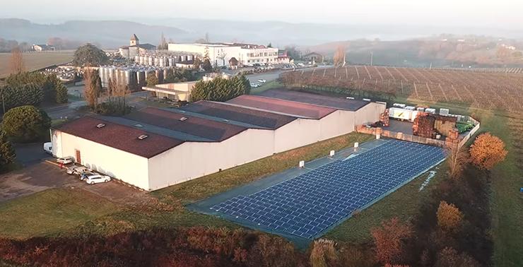 850 m2 de panneaux solaires ont été installés à la cave de Cocumont