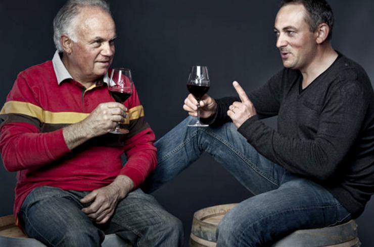 Sébastien Laffargue et son père Serge Laffargue vignerons dans les Côtes du Marmandais