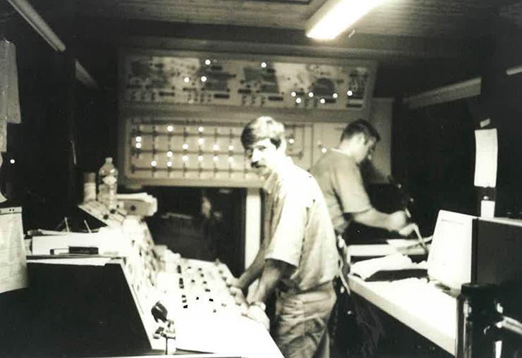 Michel Marceron en 1993 à la Cave du Marmandais.