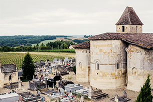 La vieille église romane de Cocumont
